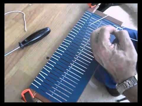 Cómo hacer un peine para un telar, (1) | how to make a heddle with wood and plastic