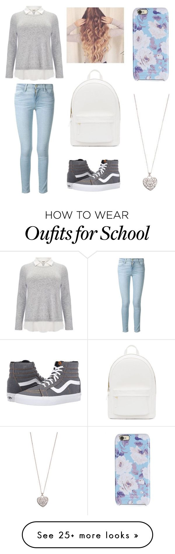 """""""simple school outfit"""" by rach-bonjour on Polyvore featuring Studio 8, Frame Denim, Vans, PB 0110, Isaac Mizrahi and Accessorize"""