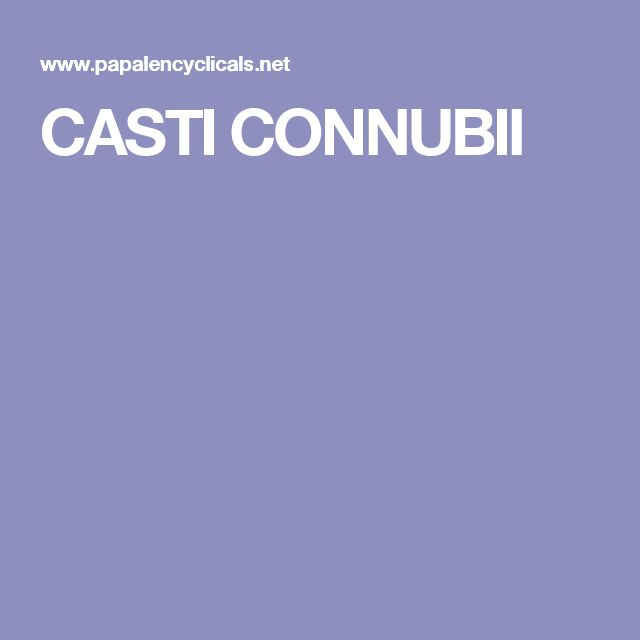 CASTI CONNUBII