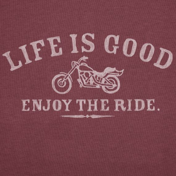 Life is Good... enjoy the ride! motorcycle shirt