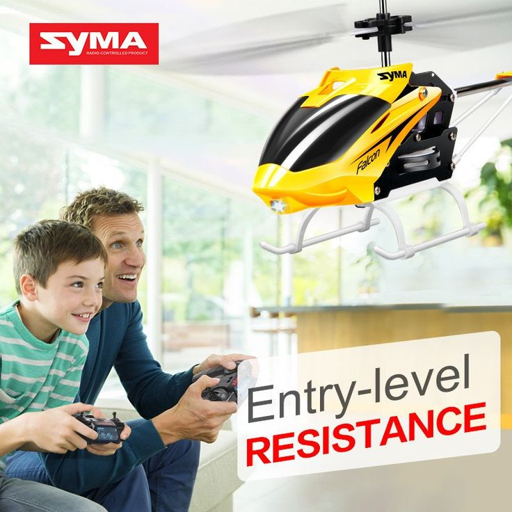 Original Syma W25 2 CH 2 Channel Indoor Mini RC Helicopter Drone with Gyro Crash Resistant