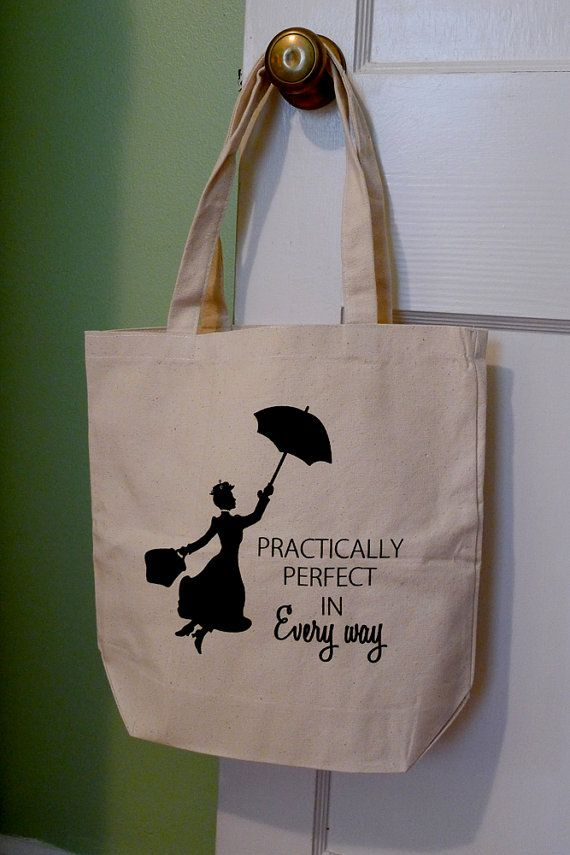 Mary Poppins tote bag Mary Poppins Disney tote bag door rachelwalter, $15.00