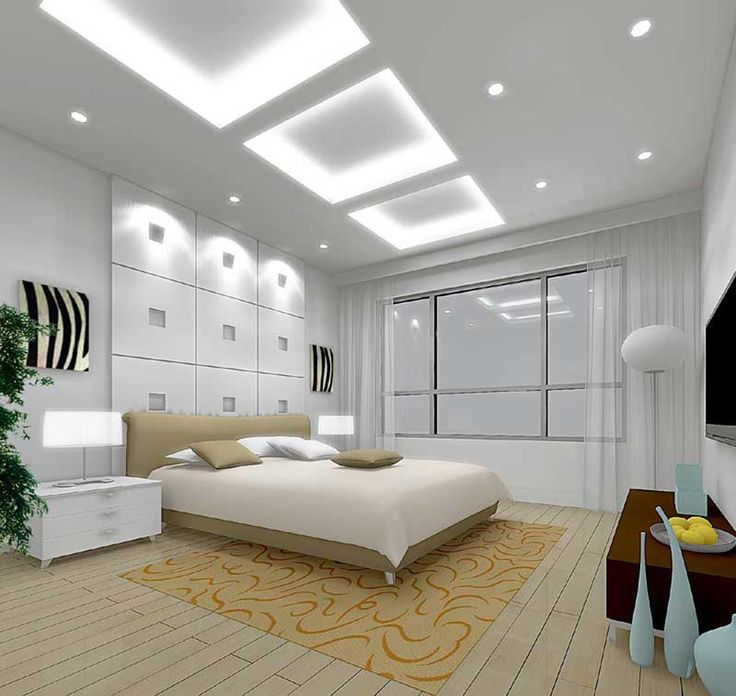 great white modern master bedroom ideas with tall high ceiling