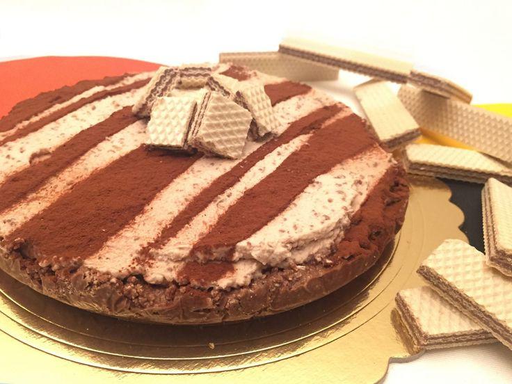 Torta wafer e panna