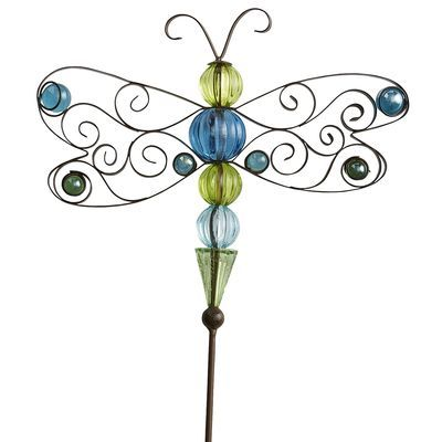 Beaded Dragonfly Garden Stake   Motheru0027s Day Gift For Mom