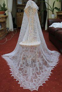 Shetland cobweb lace shawl ,pattern Gibbie shawl CW102