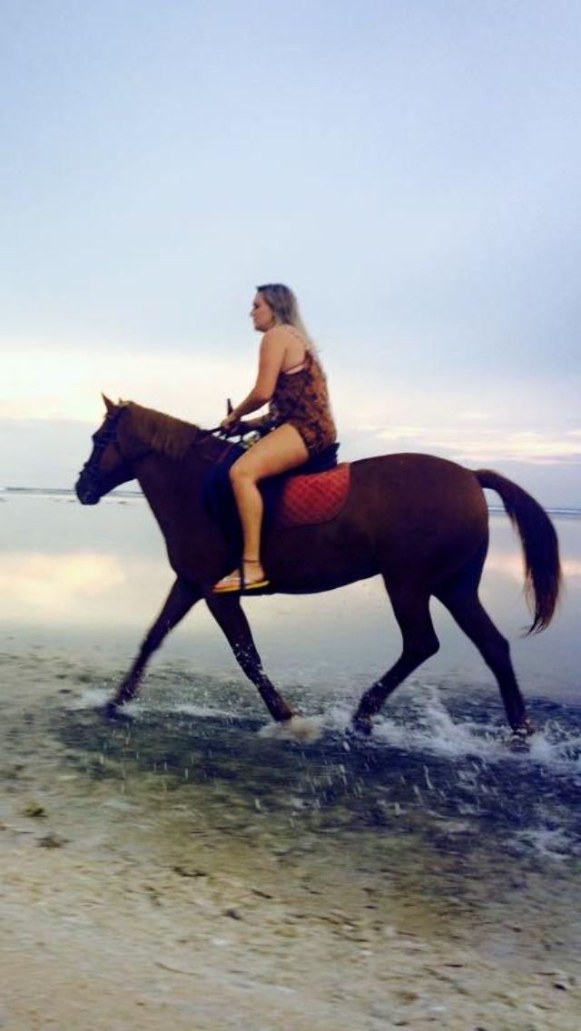 Horse riding on Gili Trawangan, Indonesia