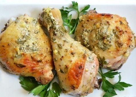 Курица в маринаде по-гречески: йогурт, оливковое масло, лимон, чеснок, петрушка, орегано