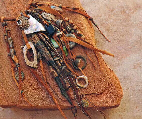 Primitive Southwestern Ceremonial Talisman by deserttalismans  (Idea for 2015 Primitive costume)