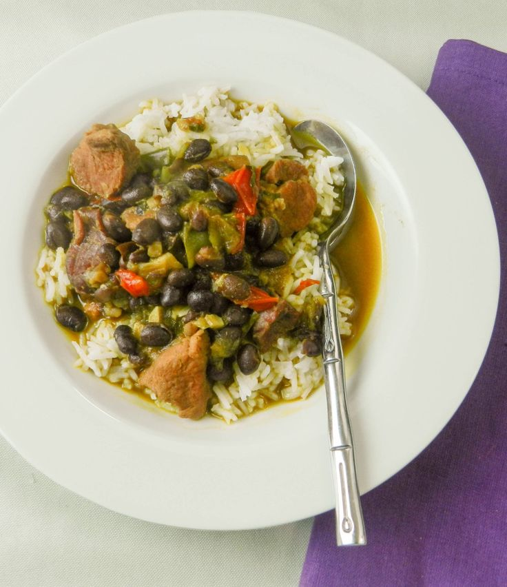 This delicious and hearty black bean stew is common throughout the Caribbean. The Cuban version is typically served over white rice.