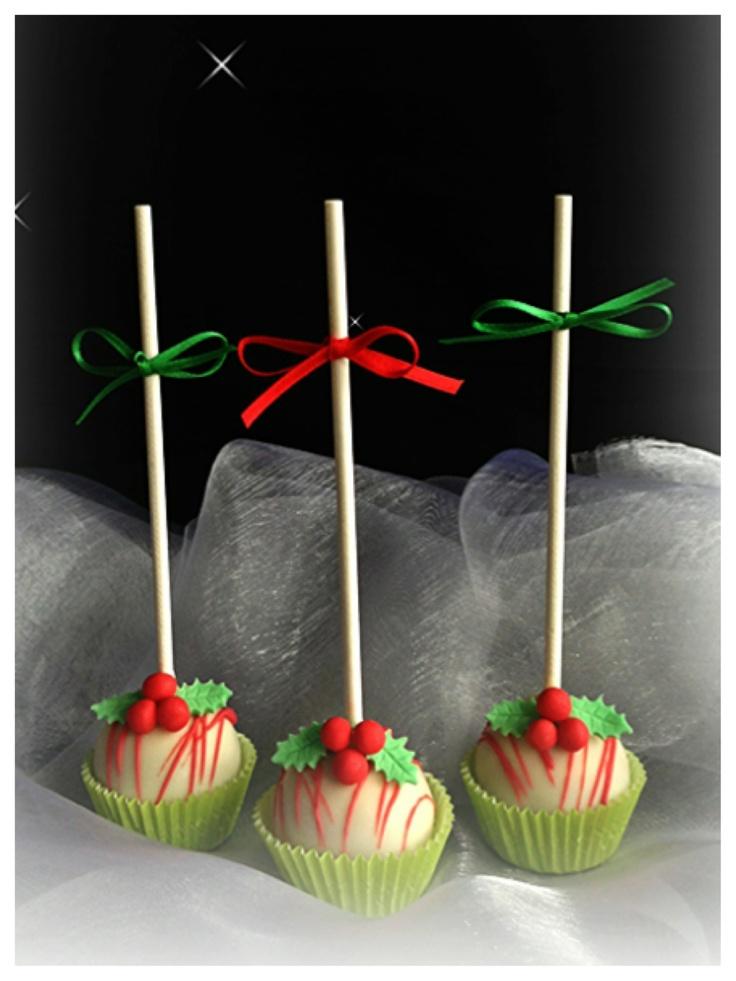 decorating cake balls for christmas