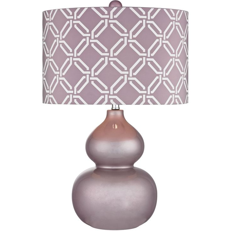 Ivybridge Ceramic Table Lamp in Lilac Luster | Dimond Lighting | Home Gallery Stores