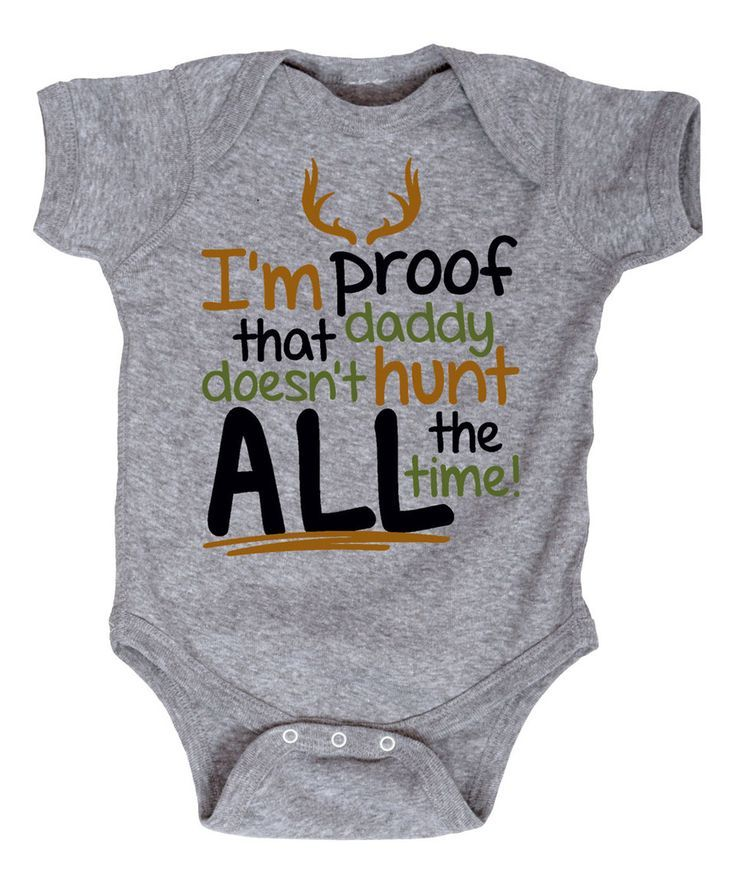 Athletic Heather 'I'm Proof Daddy Doesn't Hunt' Bodysuit - Infant by Country Casuals #zulily #zulilyfinds