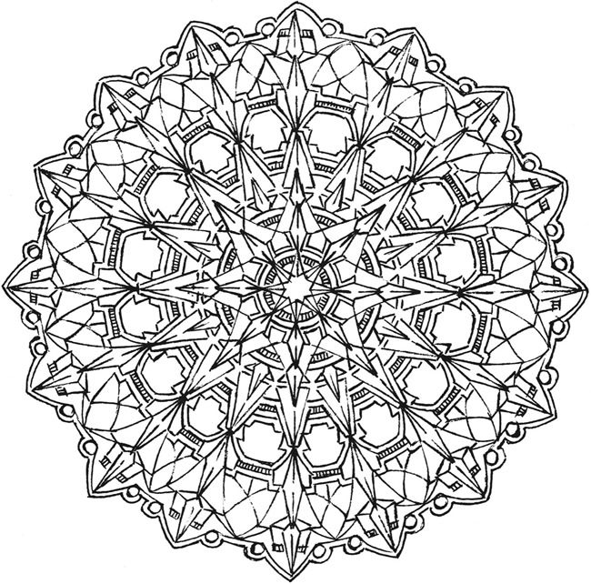 kaleidoscope designs free coloring pages - photo#42