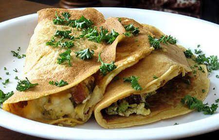 Tres recetas de panqueques salados light   Recetas de Cocina