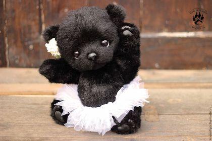 Тедди медвежонок Черный лебедь — работа дня на Ярмарке Мастеров. Магазин…