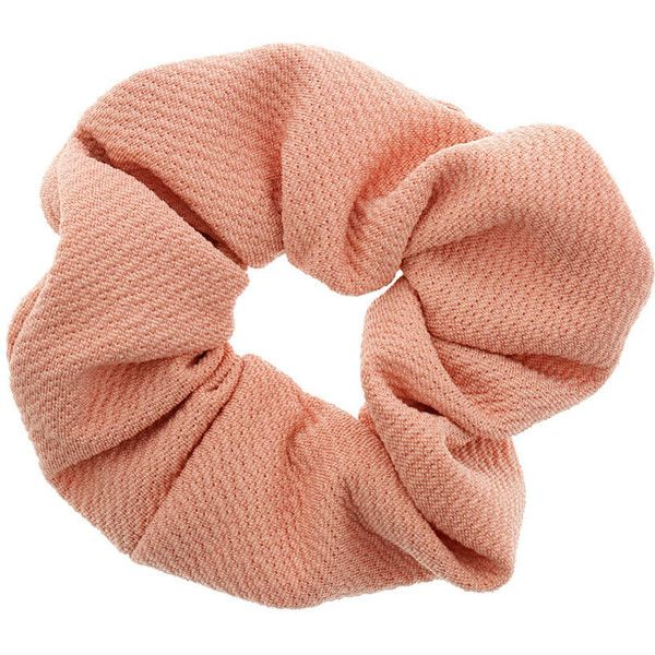 Dorothy Perkins Peach Large Scrunchie ($3) ❤ liked on Polyvore featuring accessories, hair accessories, fillers, hair, pink, scrunchie hair accessories, dorothy perkins and pink hair accessories
