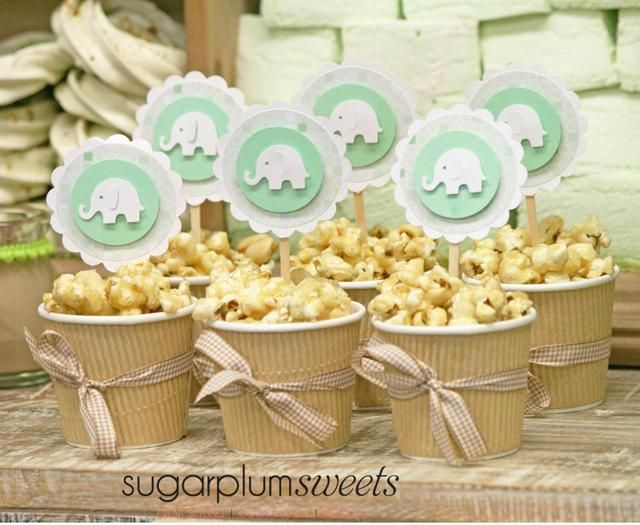 "Treats at a ""Little Peanut"" baby shower #littlepeanut #babyshower"
