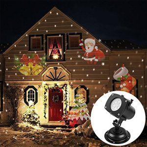 ARINO LED Lampe Scène de Pellicule Photographique Lampe Projecteur Extérieur avec 13 Dessins Interchangeables pour Fête Noël Activités…