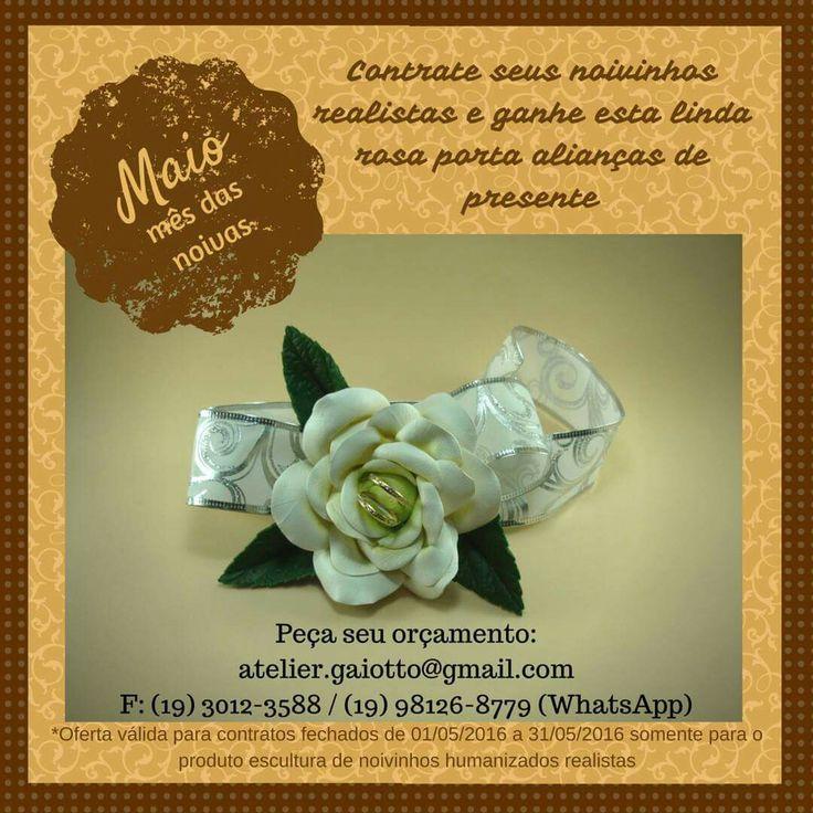 Não perca tempo nem este presente! Peça já o seu orçamento. www.facebook.com/gaiotto.atelier Instagram: @ateliergaiotto http://agaiotto.blogspot.com/ atelier.gaiotto@gmail.com F: (19) 3012-3588 / (19) 98126-8779 (Whatsapp) Fique por dentro das vantagens e das regras no post: http://agaiotto.blogspot.com.br/2016/05/promocao-mes-das-noivas-2016.html#.Vy_9cvmDGkp