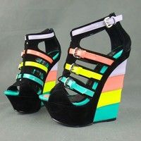 I think you'll like Hot New Design Candy neon colorant match velvet leather Buckle strap ladies Wedge sandals ultra high heels wedges plus size36-41. Add it to your wishlist!  http://www.wish.com/c/53893c78b9ee847edd181eb5