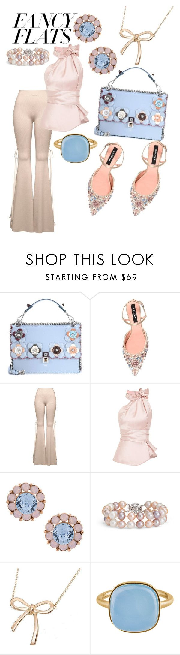 """""""Fancy Flats!!"""" by mary63348-1 ❤ liked on Polyvore featuring Fendi, Rochas, Puma, Serpui, Blue Nile, Tiffany & Co., Pernille Corydon and chicflats"""