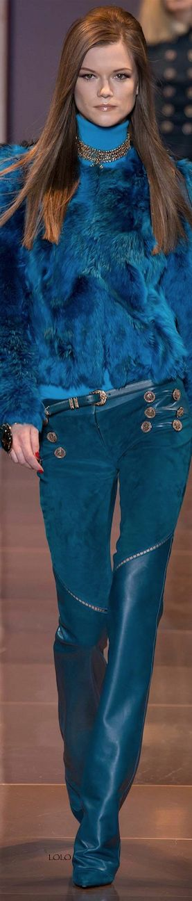 Versace Fall 2014 RTW I once owned a vest just like this! Now my kids play with it :-)