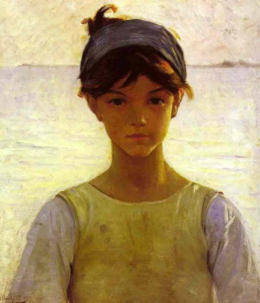 Alfred Guillou, Jeune fille à Concarneau