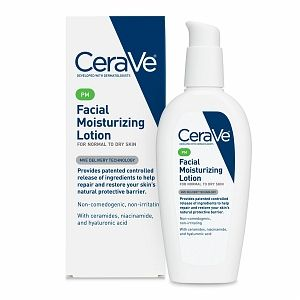 Facial Moisturizing Lotion PM by CeraVe. I use this under my CeraVe Moisterizing Cream and I'm very happy with the results.
