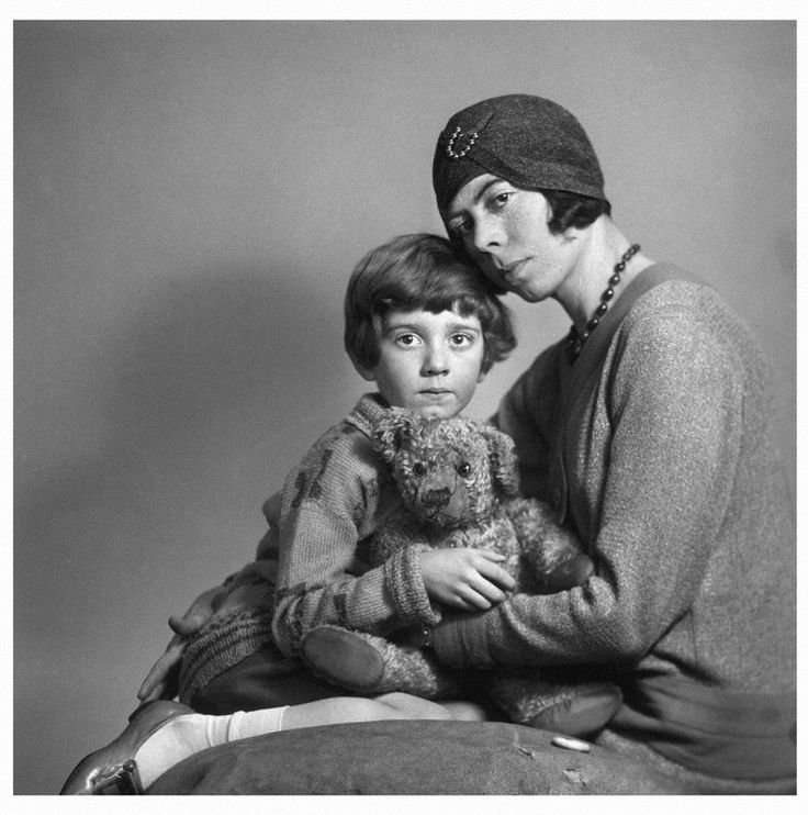 Christopher Robin and his mother, Daphne Milne. The Christopher Robin books were dedicated to Daphne, although Christopher's relationship to her was often strained and distant.