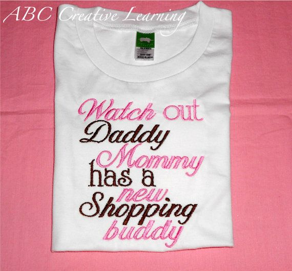 Watch out, Daddy, Mommy has a new shopping buddy! cutee