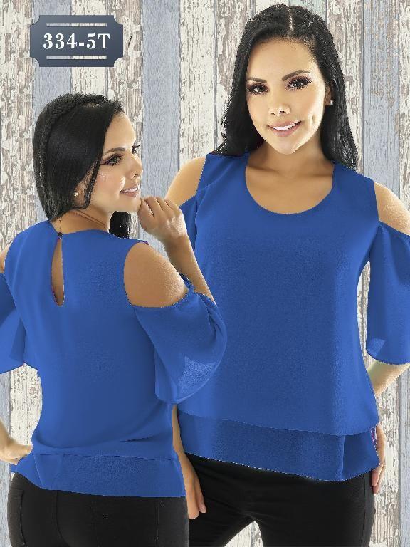 Blusa Moda Colombiana Tabbachi - Ref. 236 -334-5 Azul