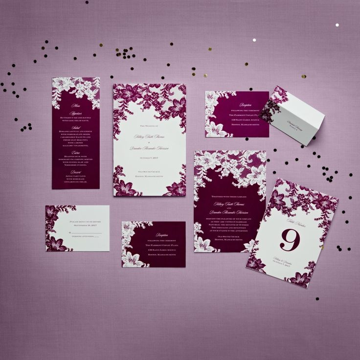 Plum Lace Wedding Invitations | Imvitations By Davidu0027s Bridal | Enter Our  PINvitation Sweepstakes For A