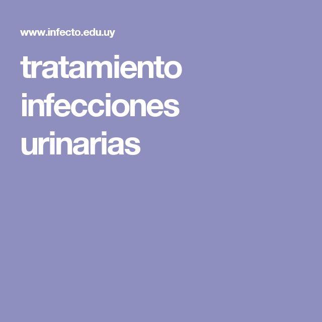 tratamiento infecciones urinarias