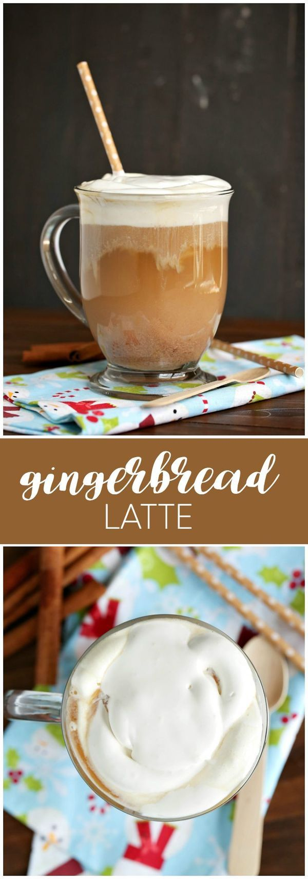 Gingerbread Latte - skip a trip to the coffee shop and make your own decadence in a mug right in your slow cooker - perfect for a warming drink this autumn.