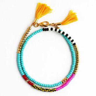 Beaded Wrap Bracelet (turquoise multi)   The Coconut Room   @thecoconutroom_