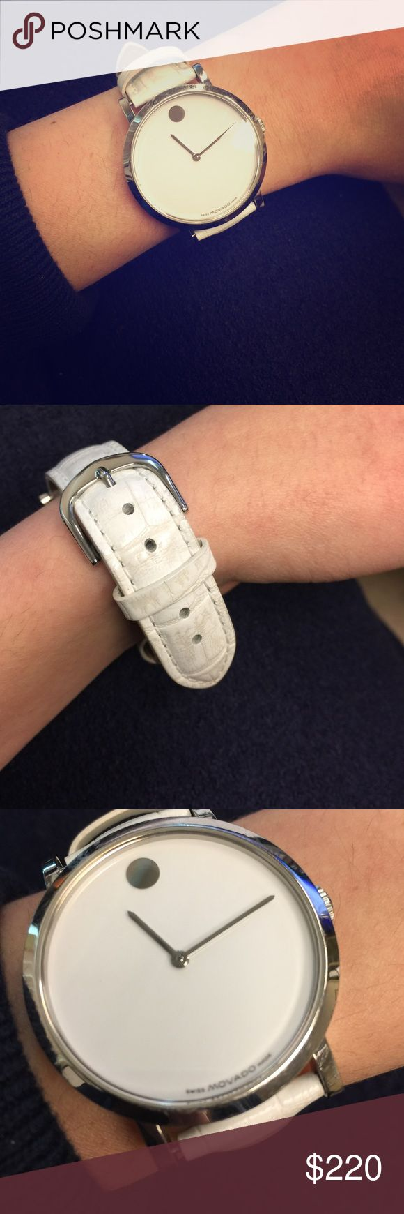 Authentic white movado big faced watch 💯 % authentic movado watch! Jewelry