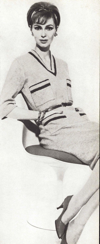 Coco Dress • 1960s Knitting Knit Sweaterdress Tunic Sweater Pattern • Vintage Vogue Knit •  1961 Woman's Digital PDF by TheStarShop on Etsy