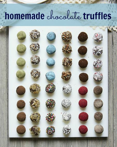 Take homemade chocolate truffles to the next level with an array of coatings such as green tea powder, sprinkles or coconut flakes. Not only do they add flavor, but they make the confections look even prettier.