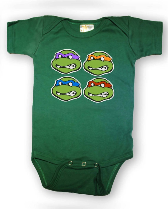 Teenage Mutant Ninja Turtles Onesie  by OneBoxStudio on Etsy, $13.99