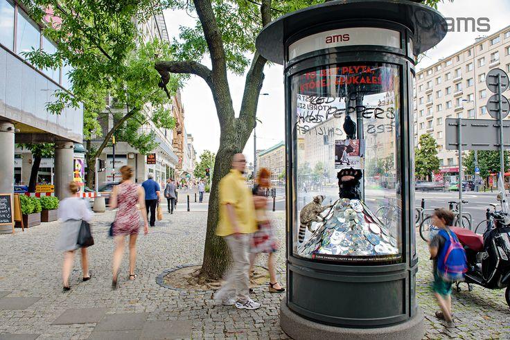 Niedźwiedź, szop pracz i kruk w słupach reklamowych AMS (Warner Music Poland, lipiec 2016) https://www.youtube.com/watch?v=ymy_sG0u8jw