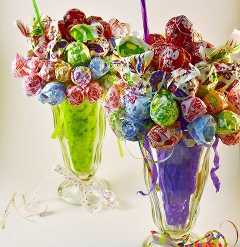 How to make a Lollipop Malt Candy Bouquet