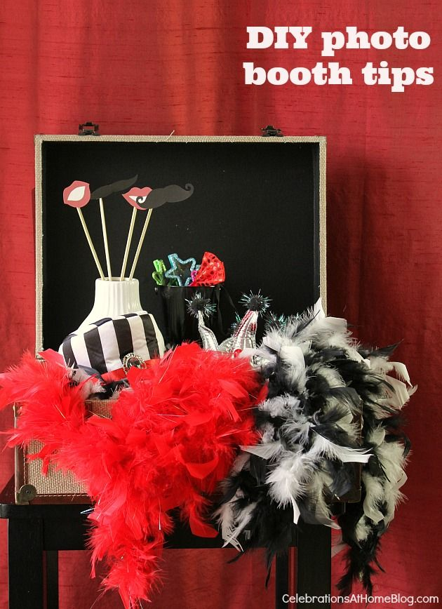 DIY PHOTO BOOTH TIPS:  http://celebrationsathomeblog.com/2014/03/diy-photo-booth-tips.html