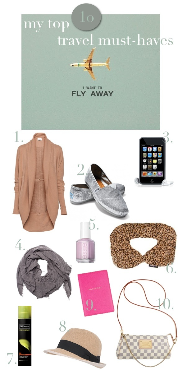 Must-haves for smart travellers include easy layering pieces, comfy slip-on shoes, and dry shampoo. | #traveltip #travel #tip