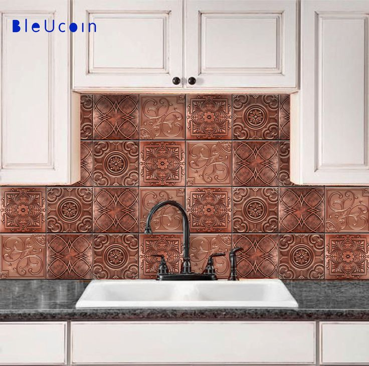 Copper Ceiling Tiles Backsplash