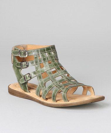 Another great find on #zulily! Green Gladiator Sandal by Bernie Mev #zulilyfinds