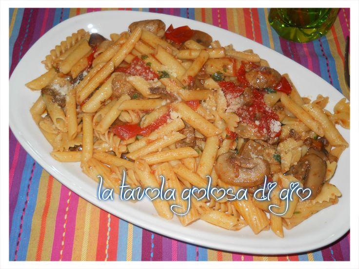 pasta+con+funghi+e+pomodorini