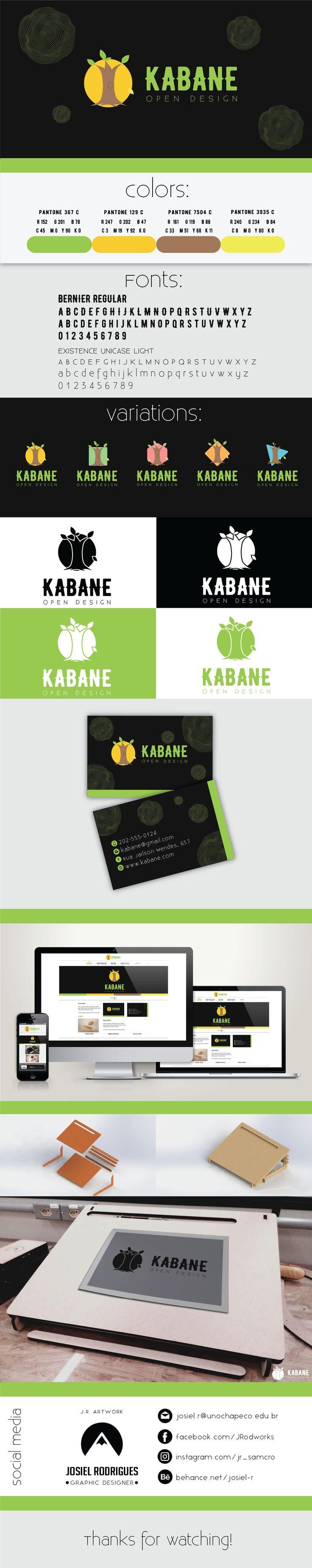 Identidade visualEsta é a marca da empresa de open design, KABANE.