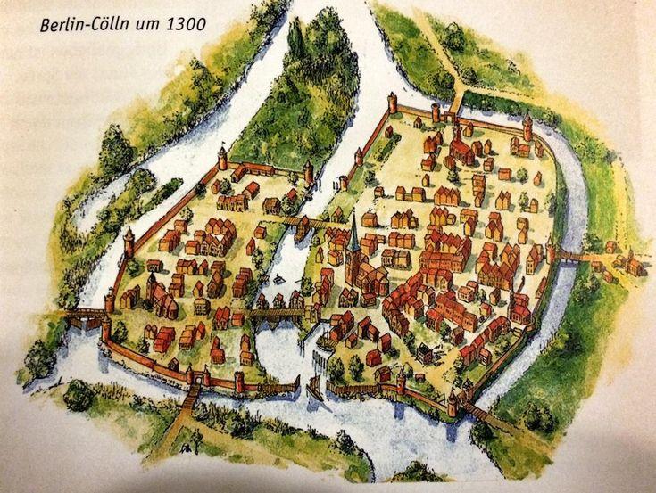 So klein hat es angefangen.. #Berlin-Cölln um 1300! #historypictures,very #oldberlin #DoYouKnowBerlin @I_love_Berlin pic.twitter.com/iYU7MkEkx5