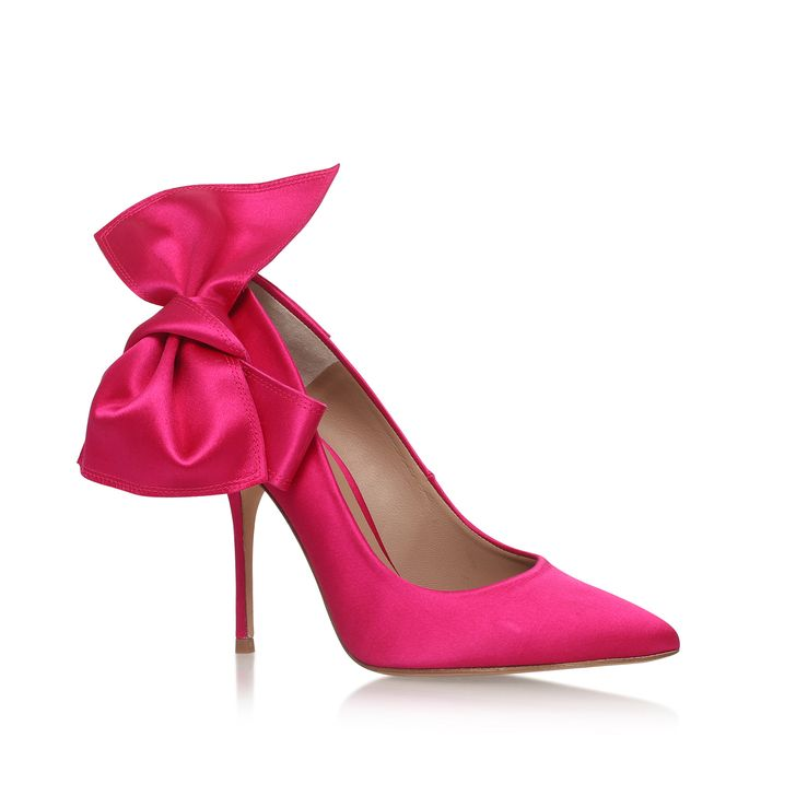 Evie Pink High Heel Court Shoes By Kurt Geiger London | Kurt Geiger
